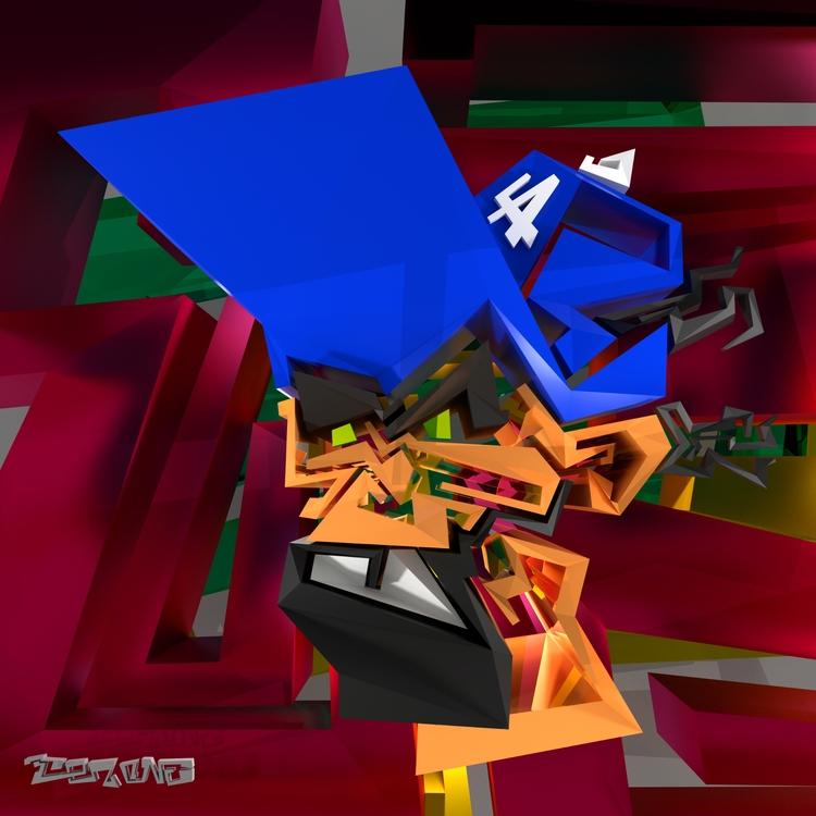 contemporary work mix 3D graffi - tezone | ello
