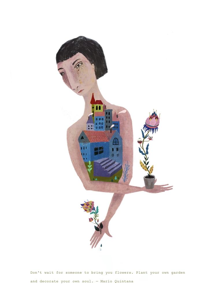 wait  - illustration, artwork, printdesign - mamind | ello