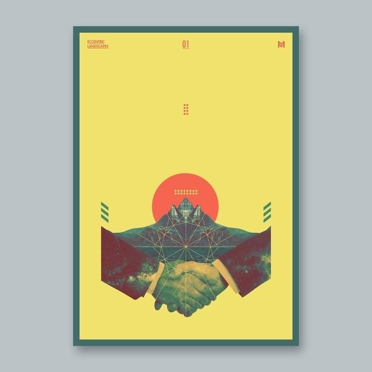 Eccentric Landscapes - 1/3  - poster - mcinen | ello
