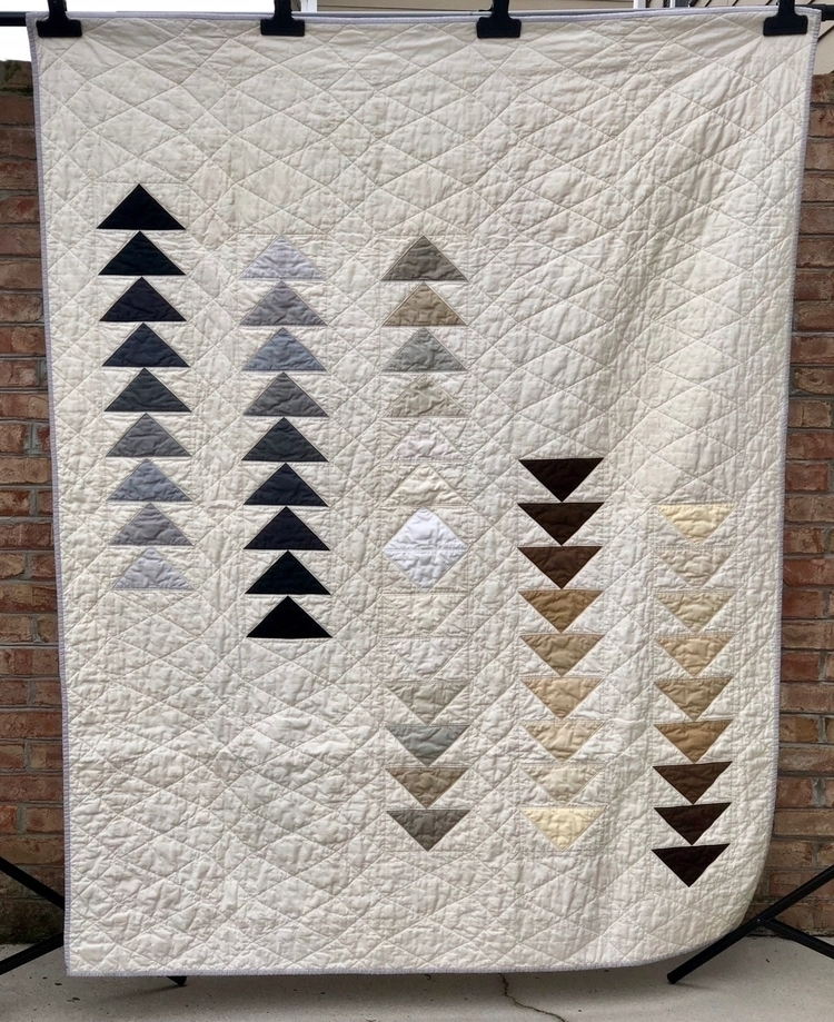 Flying geese quilt gift uncle.  - quiltmoderne | ello
