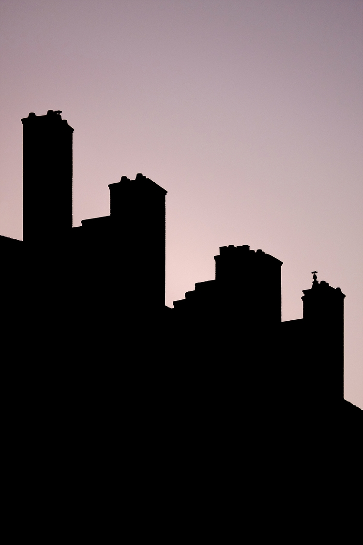 Chimneys dusk. Lyon, France - photography - samuelzeller | ello