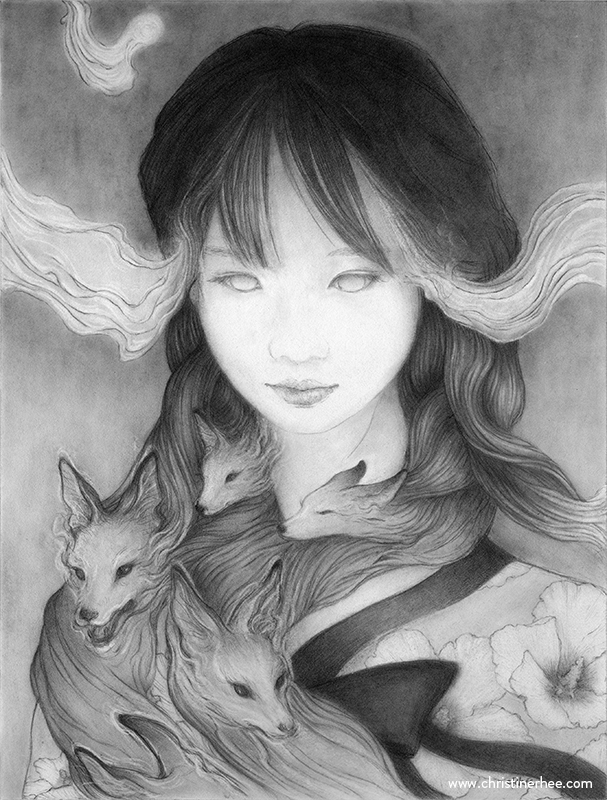 Gumiho (9 12 graphite illustrat - christinerhee | ello