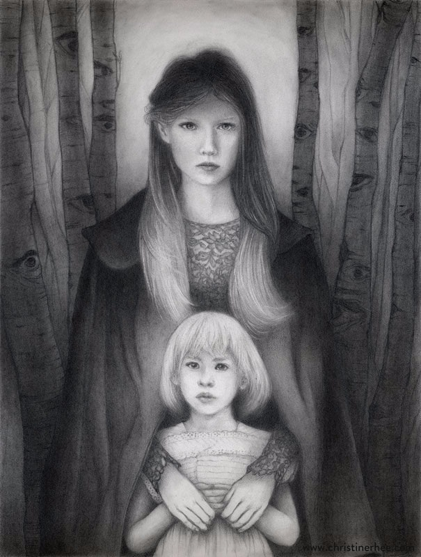 Sentinel (9x12 graphite illustr - christinerhee | ello