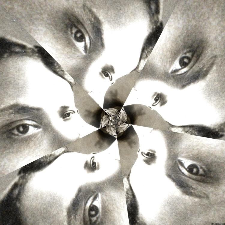 Eyeflower VI (2018). Spiral étu - retrocollage | ello
