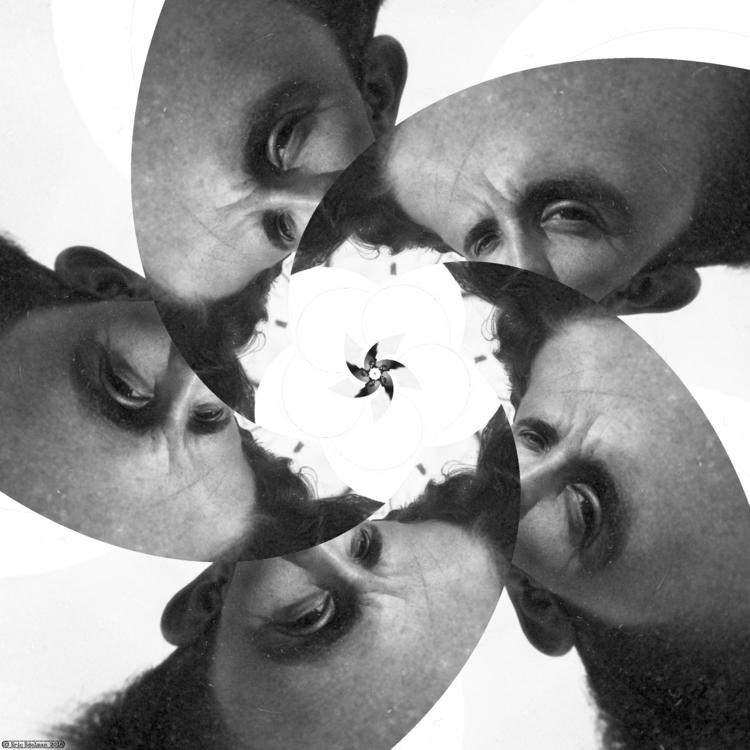 Eyeflower XI (2018). Spiral étu - retrocollage | ello