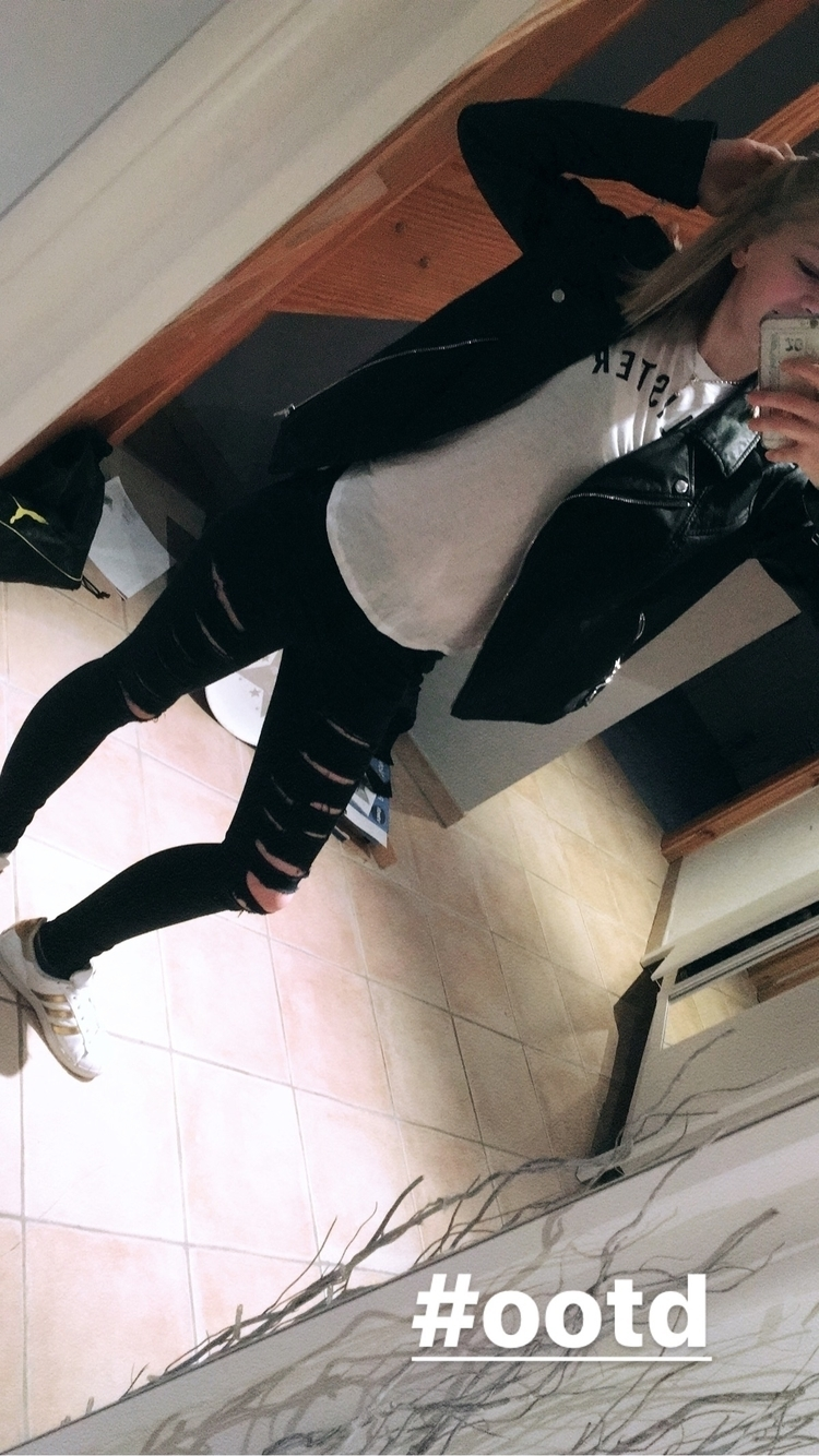 Mein heutiges Outfit: Lederjack - mimi194 | ello