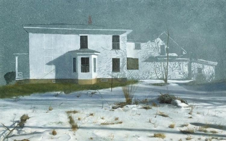 Vermont Snow Scene Oil Panel 10 - tamalinbaumgarten | ello