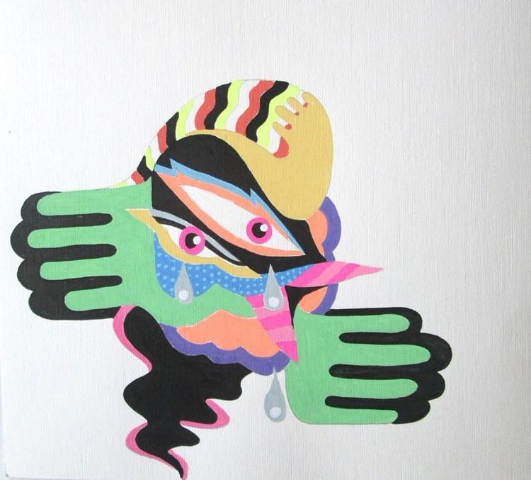 Crying Bird - Acrylic ink paper - undianuevo | ello