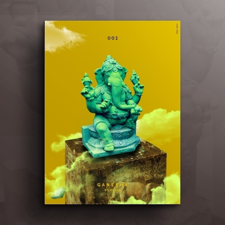 Ganesha - artwork, clouds, concept - divincreador | ello