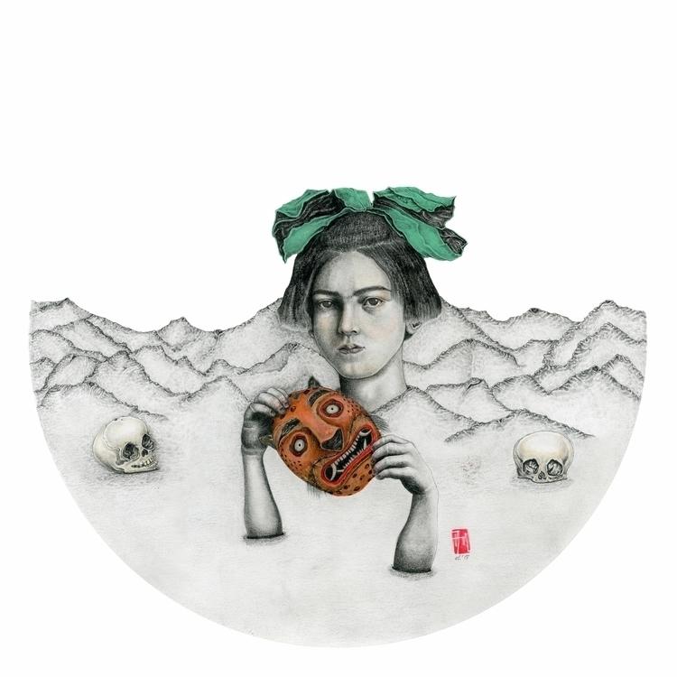 'Marigold', 2015 Graphite gouac - allisonmlow | ello
