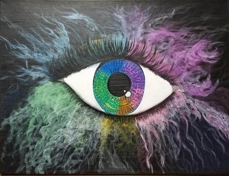 Crazy Eye Acrylic Painting canv - kerastarrart | ello