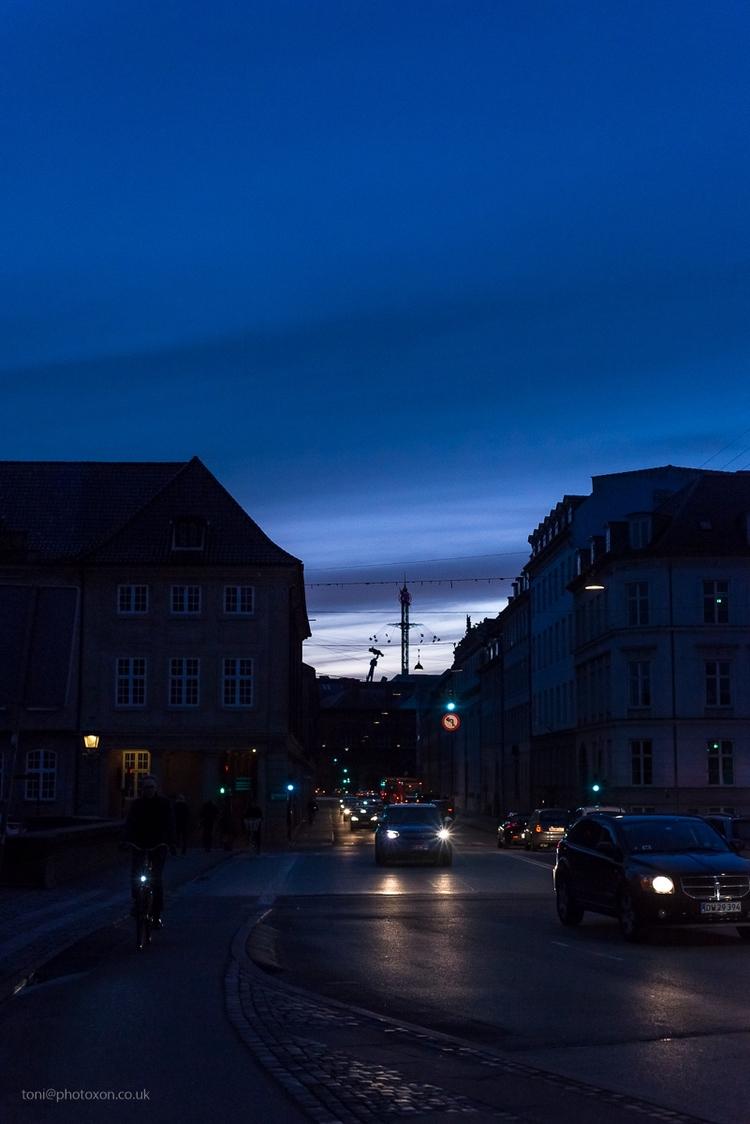 Dusk 1 - street, Denmark, Copenhagen - toni_ertl | ello
