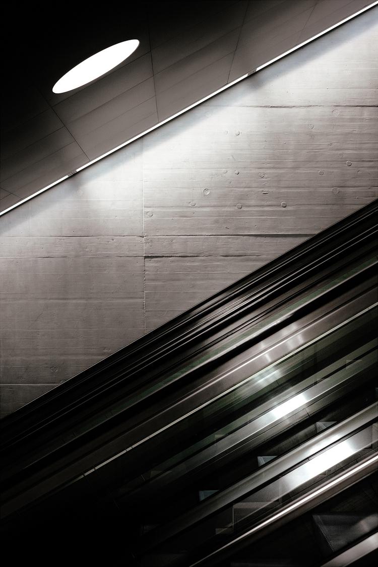 Moonlight. Zürich train station - samuelzeller | ello