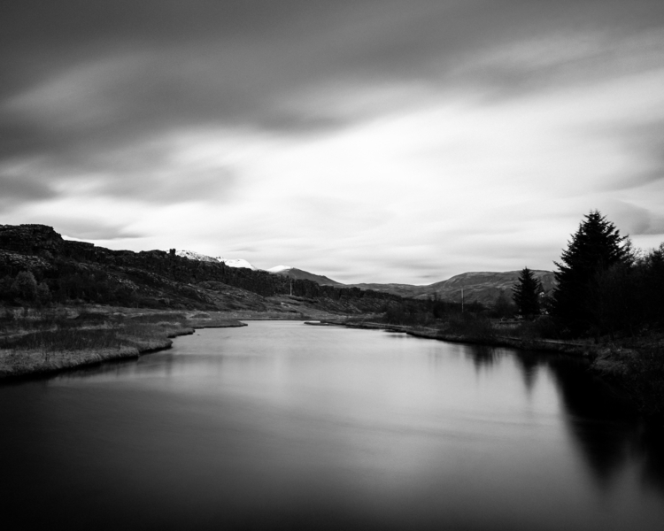 Black white scenic view river s - mickael-tournier | ello