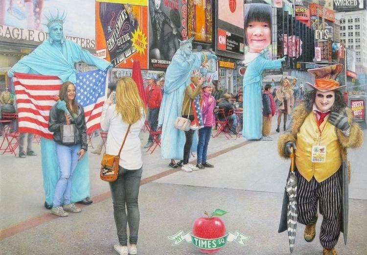 Times Square. Color pencil draw - anzhelikadoliba   ello