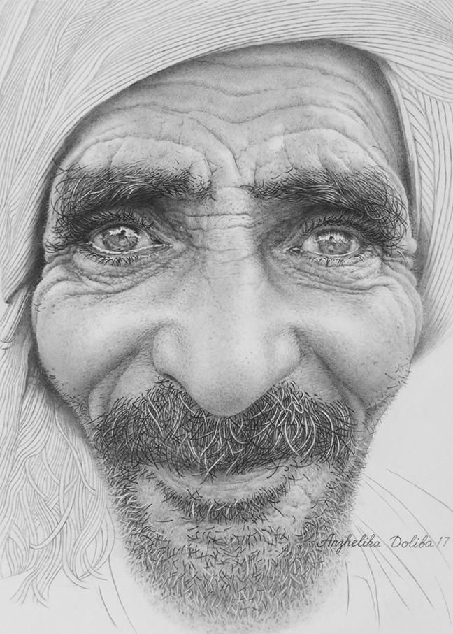 Portrait. Pencil drawing. 9x7 - art - anzhelikadoliba | ello