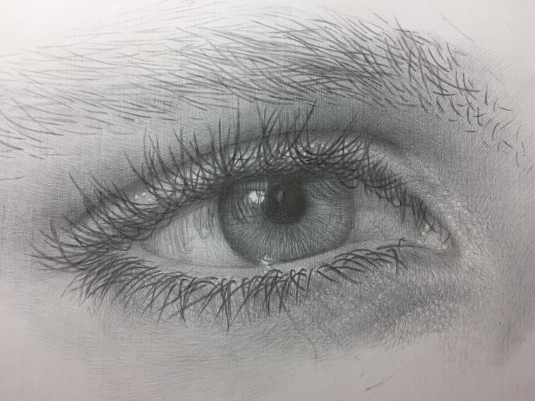 Eye study. Silverpoint prepared - anzhelikadoliba | ello