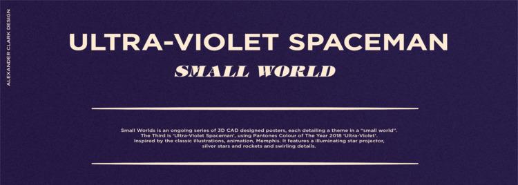 Ultra-Violet Spaceman | Small W - clarkalexander | ello