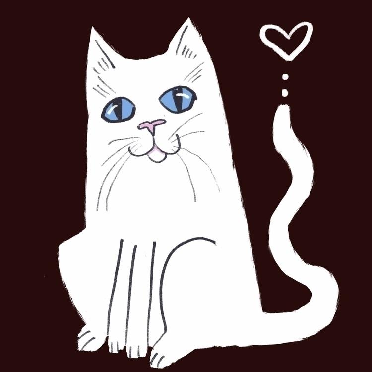 kitty loves - cat, kitten, whitecat - reneeleigh   ello