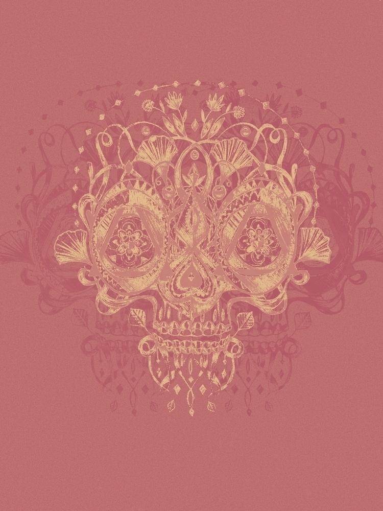Skull Da Luxe - art, drawing, skull - trinkl | ello
