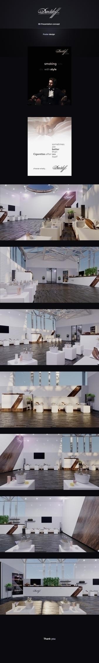 davidoff, concept, 3D, interior - moonya91 | ello