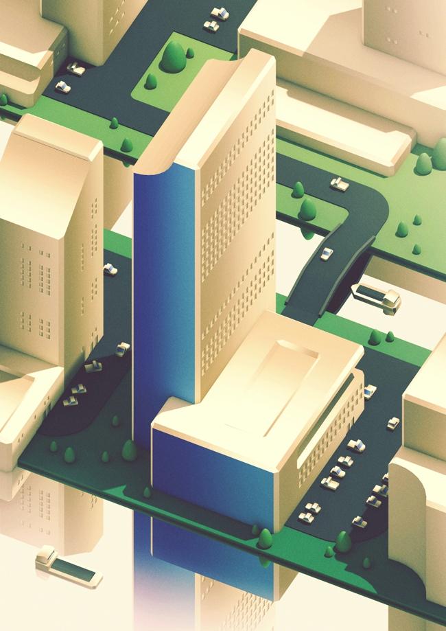 Modern City - approach  - guillaumekurkdjian | ello