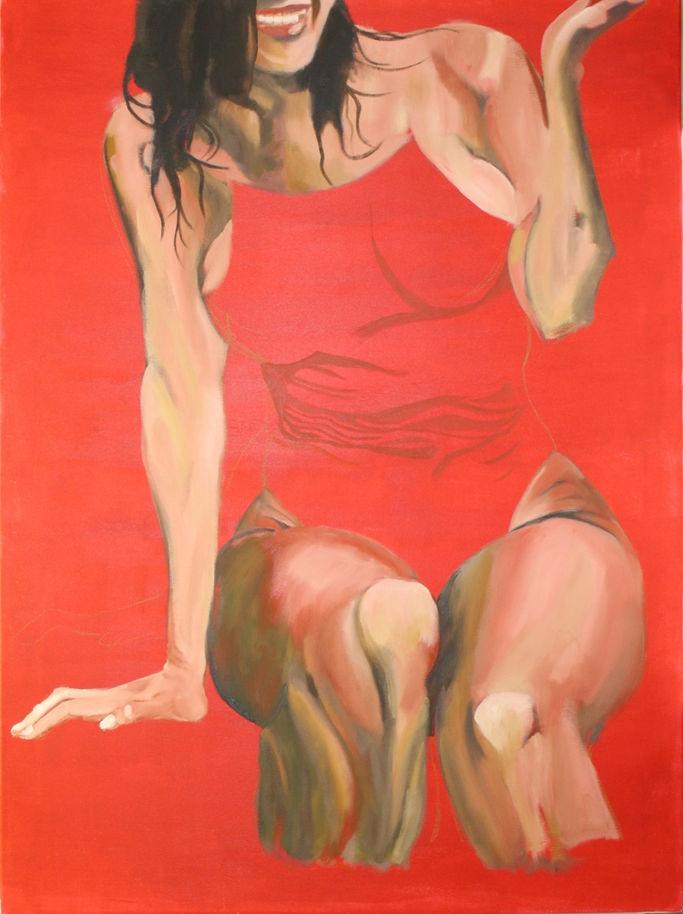Girl pool. Oil Canvas 130x97 cm - juancarranzarte | ello