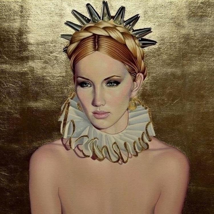 """""""Ice Queen"""", oil silver gold le - suzysmithart   ello"""