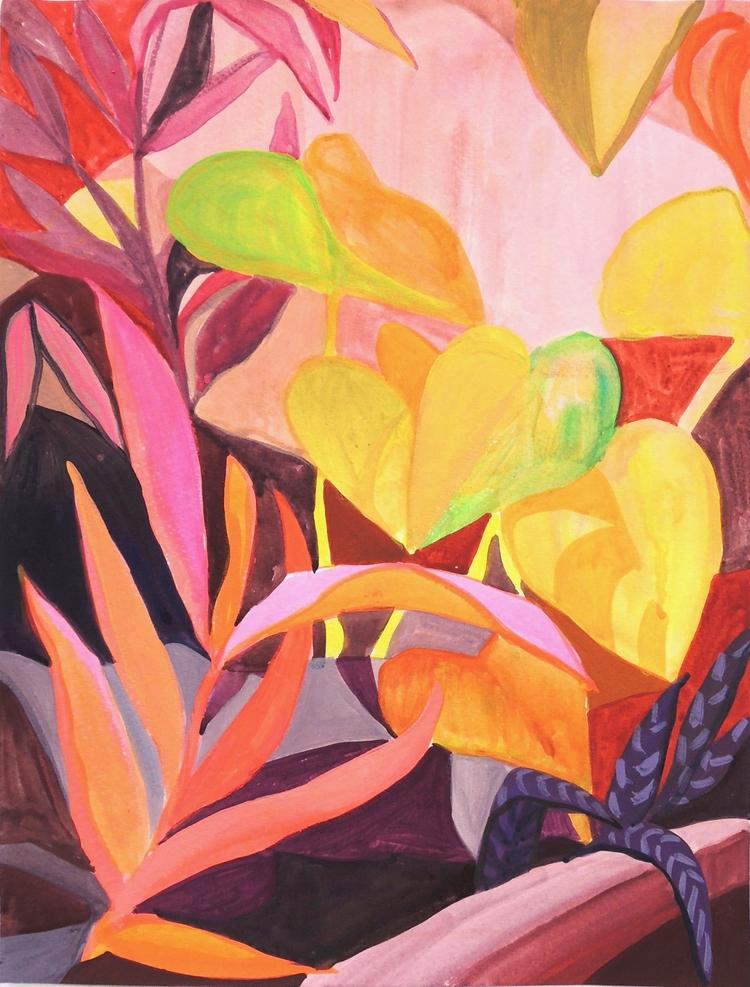 Pink Varietals, Acrylic Gouache - claireelliott | ello