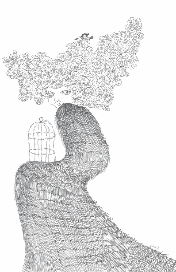 Anxiety 1 - pen, ink, illustration - susiepak | ello