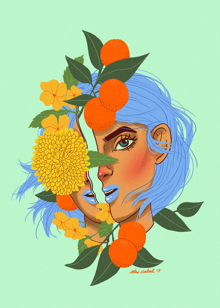 Orange Girl 1500x2100 px Adobe  - acaballz | ello