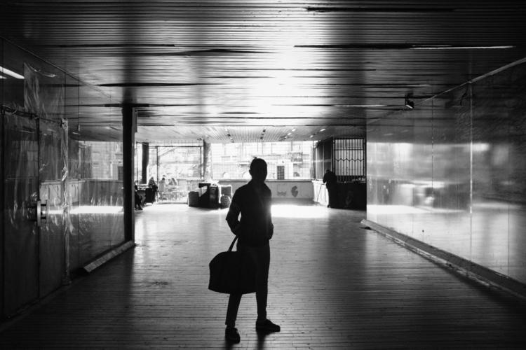 woman, dark, passage, silhouette - talexic | ello