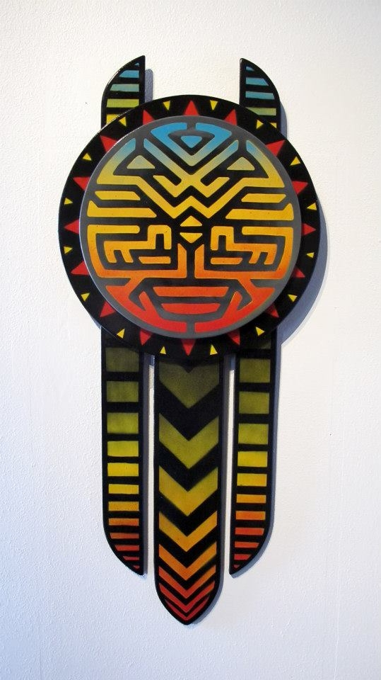 Spirit Mask - 2013 wood cut wal - xavi | ello