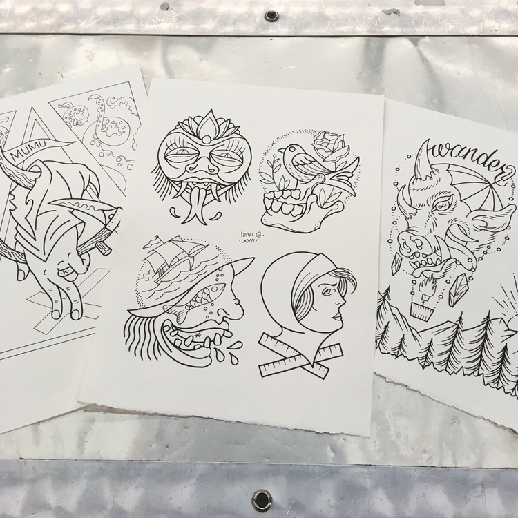 sheets lined ready - tattooflash - levigreenacres | ello