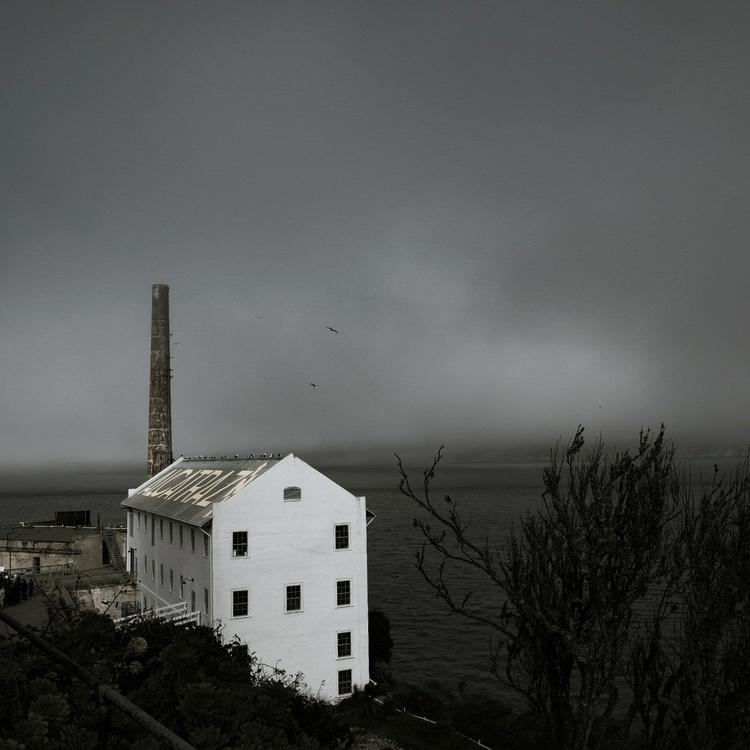 eerie day alcatraz Island - fuji - mikericciphoto | ello