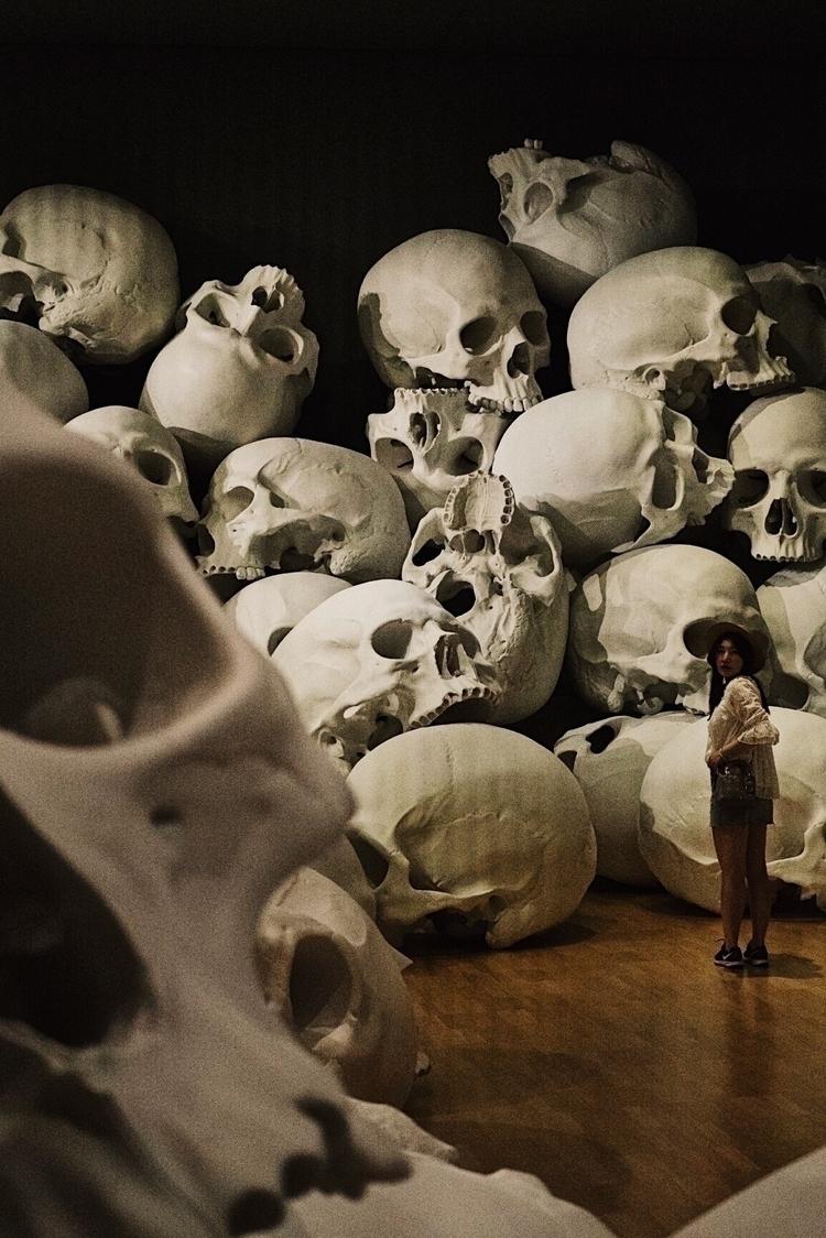 giants grave yard - skull, photography - kubothekid | ello