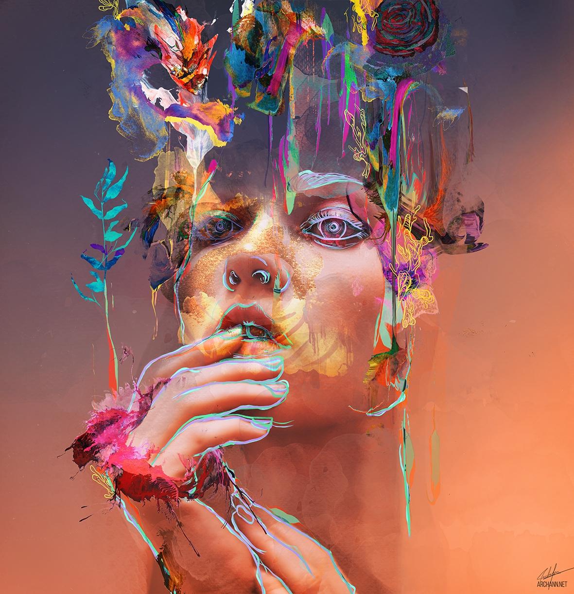 1) Analog Dreams, Mixed Media  - archannair | ello