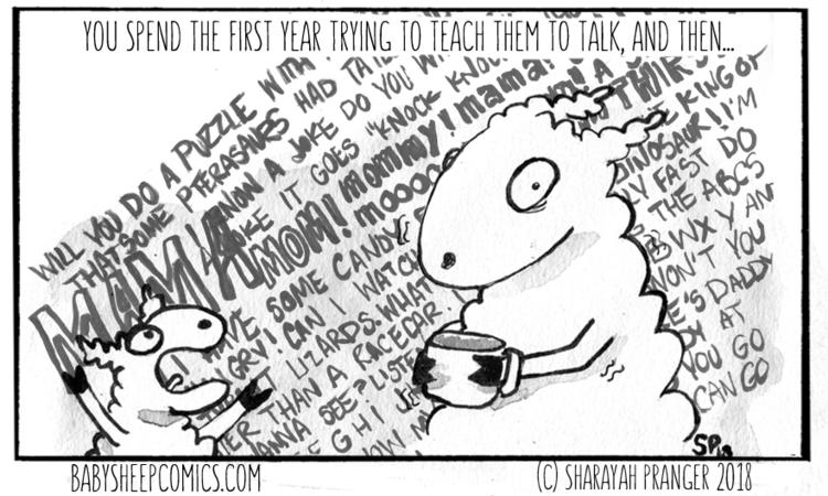call gift gab, shutting - babysheepcomics | ello