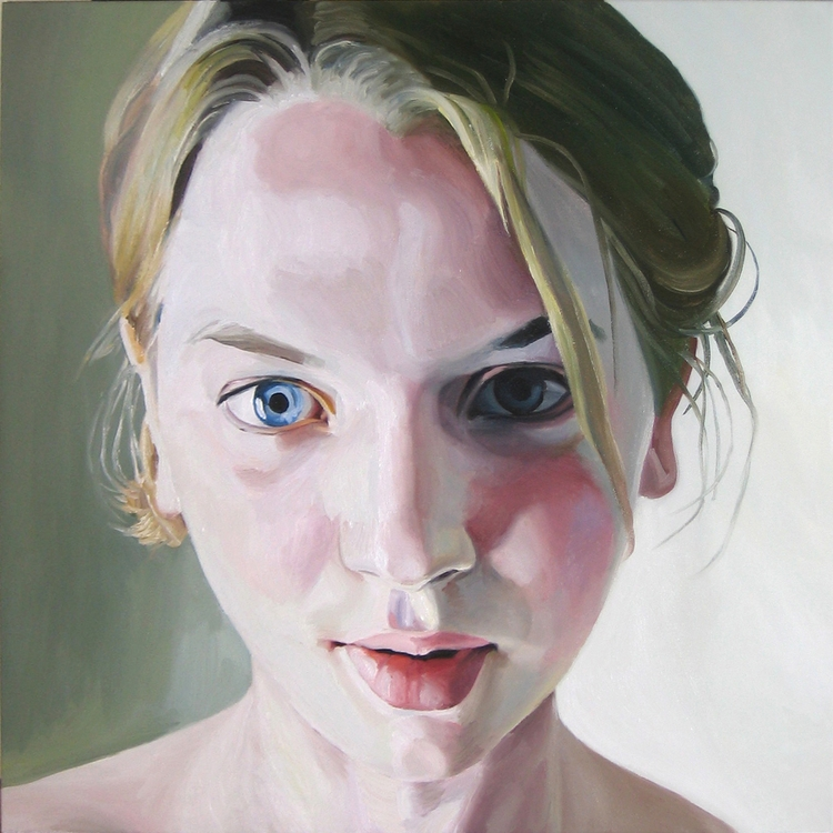 Internet Girl, 36x36, oil canva - stephenrwright | ello