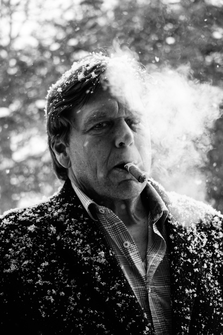 Father black white. cigar snows - walkervandixhorn | ello