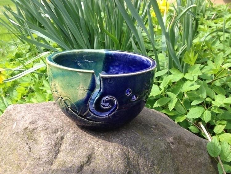 Stoneware yarn bowl - pottery, clay - snedell | ello