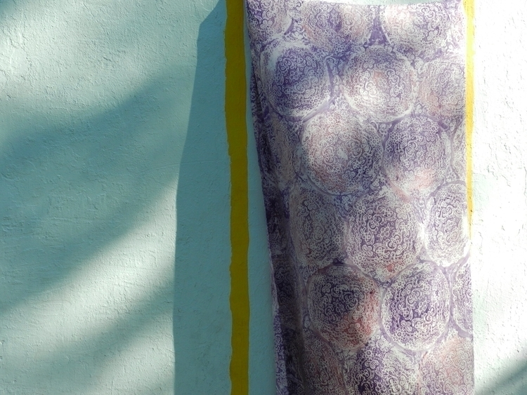 Crepe silk charmeuse stenciled  - jannamaria | ello