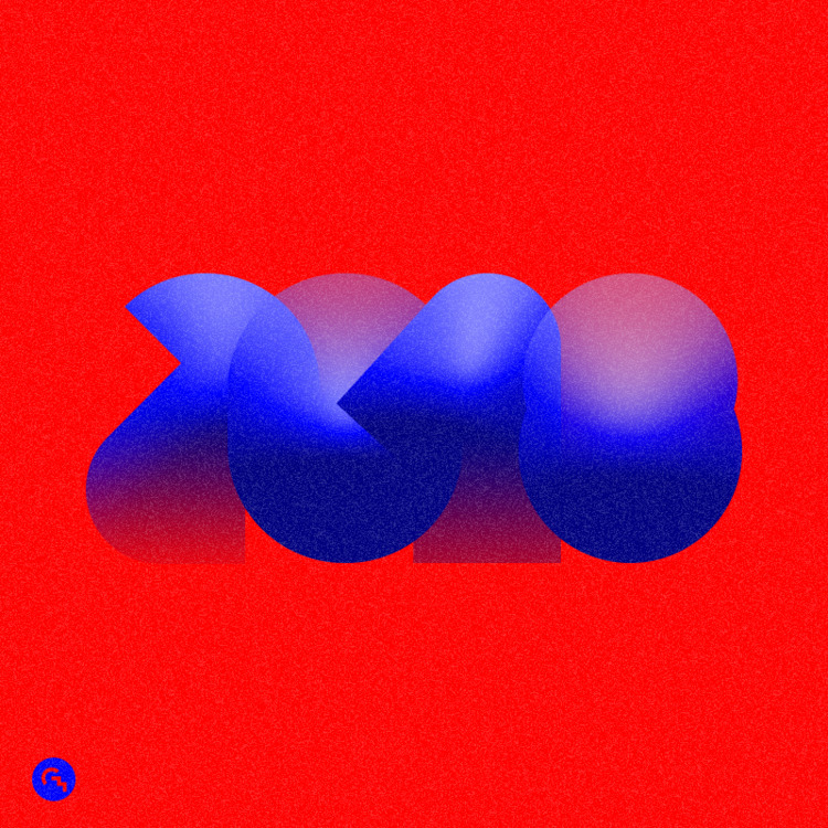 ► 2018 / 2 - happynewyear, typography - game4d | ello