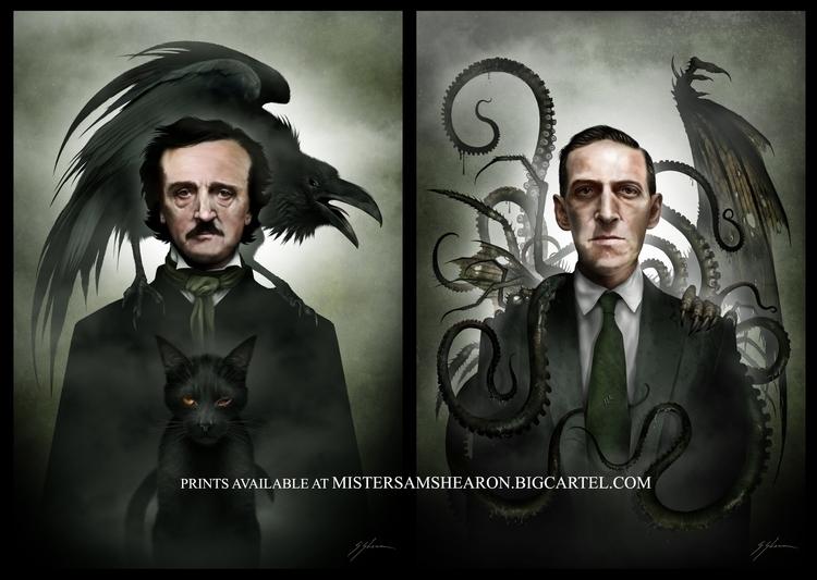art, horror, goth, gothic, prints - mistersamshearon | ello