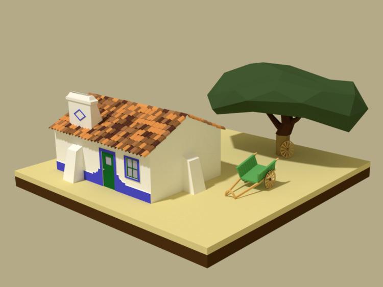 poly 3D model - Portuguese Typi - gendosplace | ello