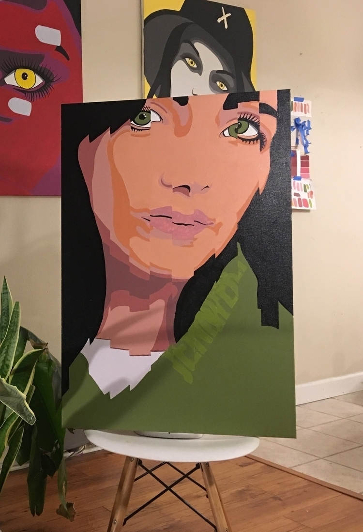 Jennifer | 24 36 Acrylic canvas - christopherruh1 | ello