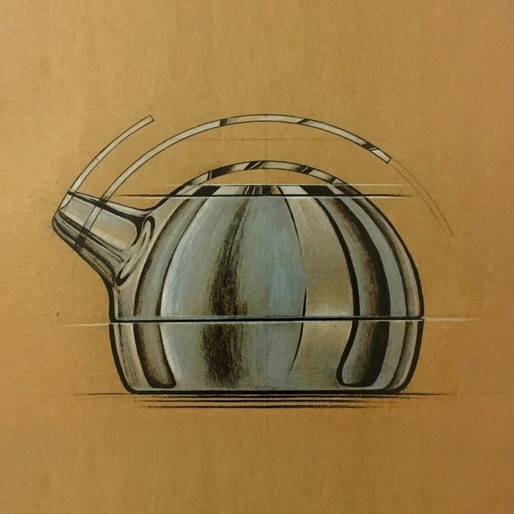 Teapot design sketch - copic, marker - caners | ello