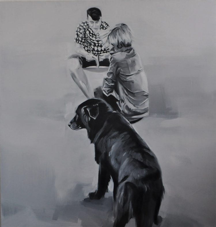 love. oil, canvas, 95x90 cm. 20 - judytakrawczyk   ello