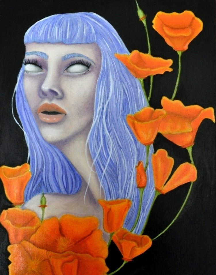 Ode Spring:California Poppies - oilpainting - annaisabellaart | ello