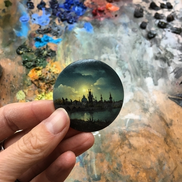 Oil copper miniature - dinabrodsky | ello